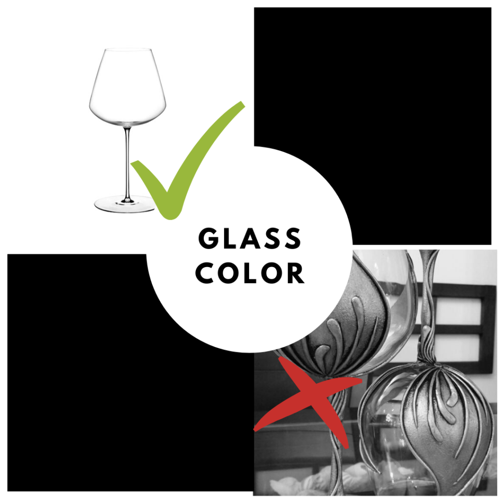 wine tasting glasses color