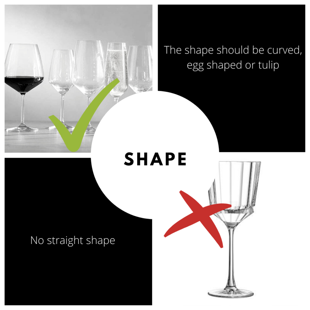 wine tasting glasses shape