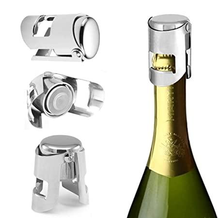 open bottle of sparkling wine
