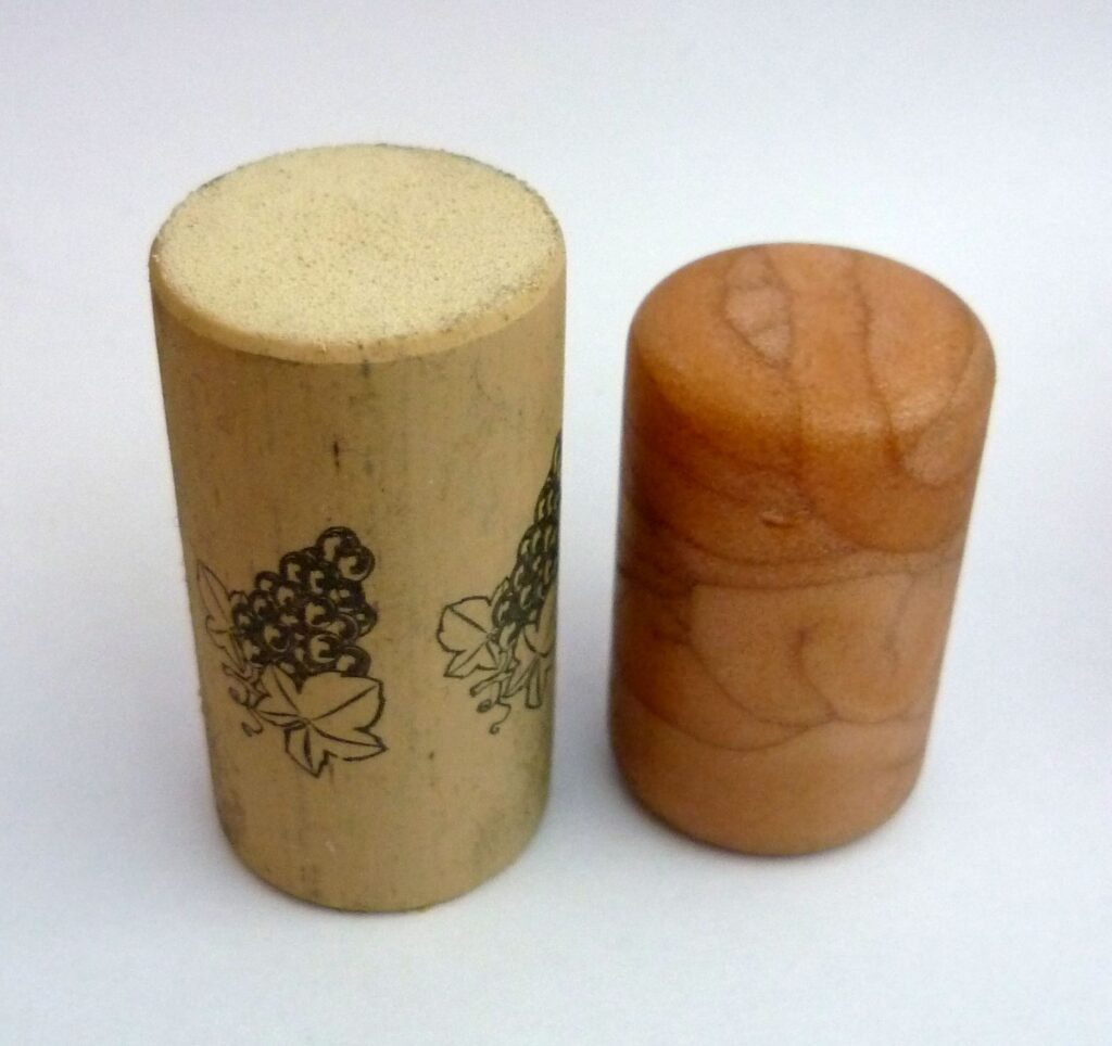 Synthetic corks.